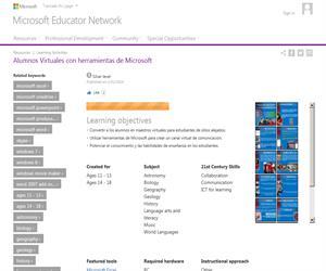Alumnos Virtuales con herramientas de Microsoft