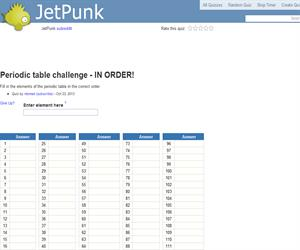 Periodic table challenge - In Order!