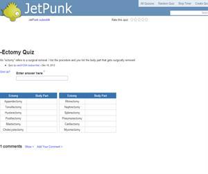 Ectomy Quiz