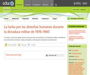 La lucha por los derechos humanos durante la dictadura militar de 1976-1983
