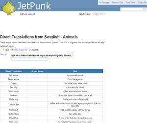 Direct Translations from Swedish - Animals