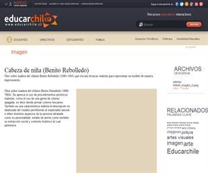 Cabeza de niña (Benito Rebolledo) (Educarchile)