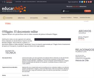 O´Higgins: El descontento militar (Educarchile)