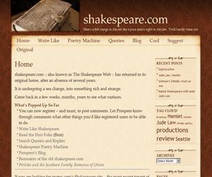 Shakespeare.com, la obra del genial escritor a tu alcance
