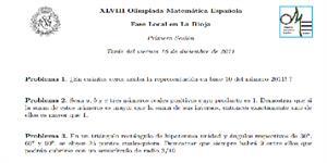 Olimpiadas Matemáticas 2011-2012 (fase local La Rioja)