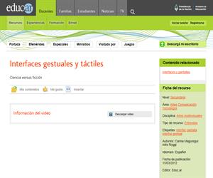 Interfaces gestuales y táctiles