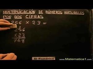 Multiplicación por números de una o dos cifras