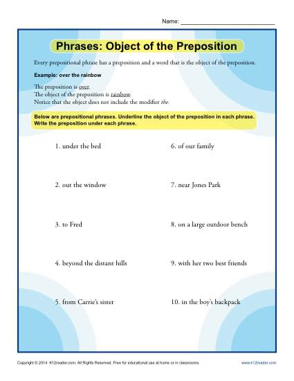 Phrases: Object of the Preposition