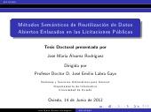 Metodos semánticos de reutilización de datos abiertos enlazados en las licitaciones públicas