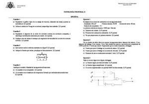 Examen de Selectividad: Tecnología industrial. Asturias. Convocatoria Junio 2014