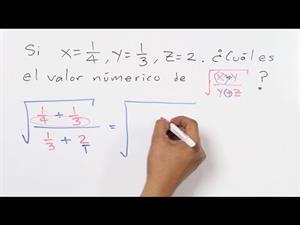 Calcular el VALOR NUMÉRICO de una expresión algebraica con FRACCIONES