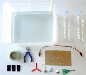 Barco solar. Experimento de electricidad para niños de 8 a 12 años