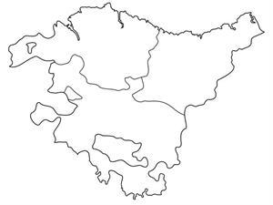 Mapa Fisico De Euskal Herria Para Imprimir.Mapa Politico Mudo Del Pais Vasco Anaya Didactalia
