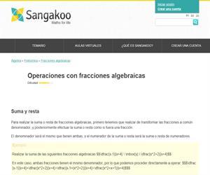 Operaciones con fracciones algebraicas (sangakoo)
