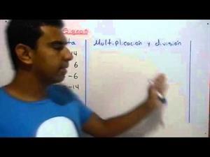 Ley de signos para la suma, resta, multiplicación y división de números enteros
