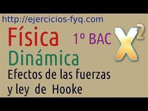 Efectos de las fuerzas y Ley de Hooke. Cibermatex