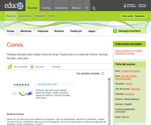Cronos: Software educativo para crear líneas temporales
