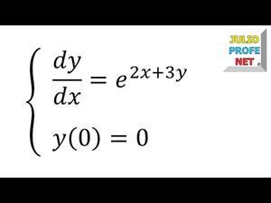 Ecuación diferencial por separación de variables.