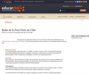 Bailes de la Zona Norte de Chile (Educarchile)