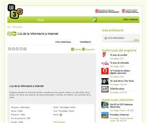L'ús de la informació a Internet (Edu3.cat)