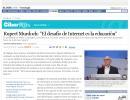 """Rupert Murdoch: """"El desafío de Internet es la educación"""" · EL PAÍS"""