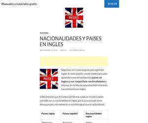 Paises Y Nacionalidades En Ingles Didactalia Material Educativo