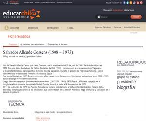 Allende Gossens, Salvador (1908 - 1973) (Educarchile)