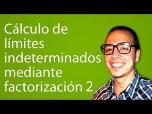 Cálculo de límites indeterminados mediante factorización 2 (Tareas Plus)