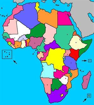 Mapa interactivo de África: países y capitales (luventicus.org)