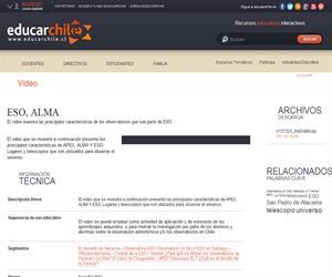 ESO, ALMA (Educarchile)