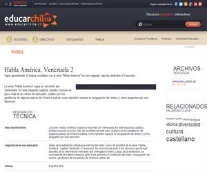 Habla América. Venezuela 2 (Educarchile)