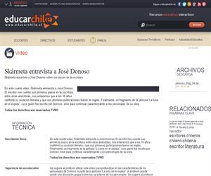 Skármeta entrevista a José Donoso (Educarchile)