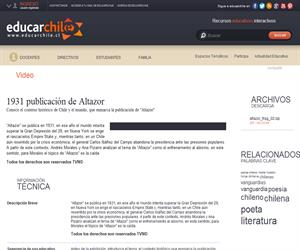 1931 publicación de Altazor (Educarchile)