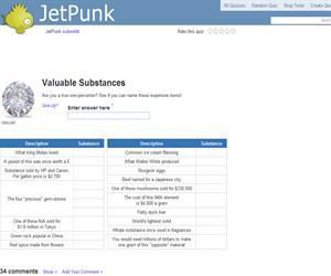 Valuable Substances