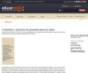 Contenidos y ejercicios de geometría para tus clases (Educarchile)