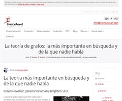 La teoría de grafos en la búsqueda y el search marketing | Human Level Communications