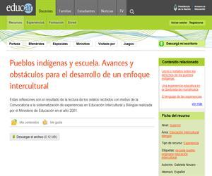 Pueblos indígenas y escuela. Avances y obstáculos para el desarrollo de un enfoque intercultural