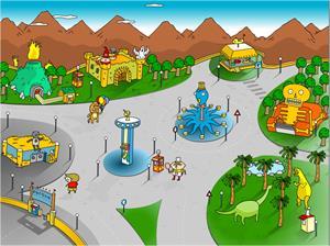 Juegos de los mundos (Nivel 2). El parque de atracciones