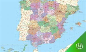 Mapa político de España escala  1:1.125.000