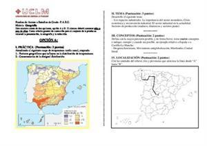 Examen de Selectividad: Geografía. Castilla-La Mancha. Convocatoria Junio 2014