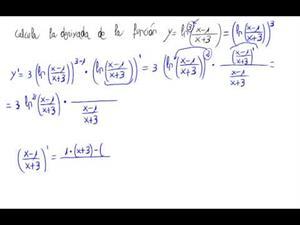 Derivada - logaritmos, potencias y cocientes