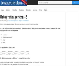 Ortografía general: ejercicios G/J, BIR/VIR