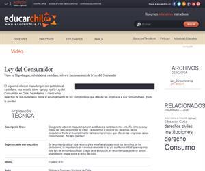 Ley del Consumidor (Educarchile)