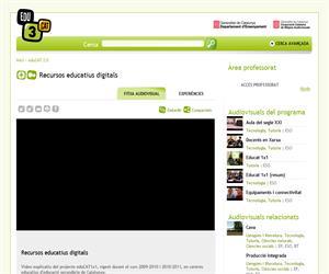 Recursos educatius digitals. Vídeo explicatiu del projecte eduCAT1x1 (Edu3.cat)