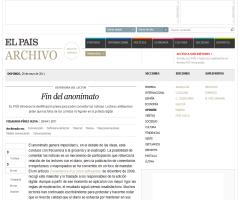 Fin del anonimato (Milagros Pérez Oliva, 'El País')