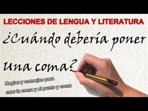 LA COMA Y EL PUNTO Y COMA (Lecciones de lengua y Literatura)