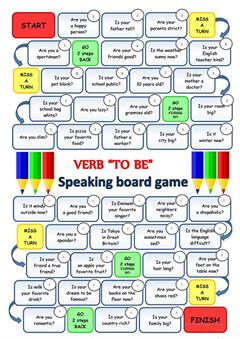 Verb TO BE: Speaking boardgame (iSLCollective)