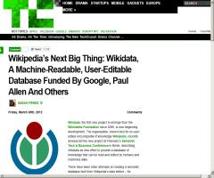 Wikidata, A Machine-Readable, User-Editable Database