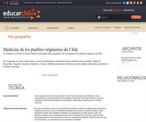 Medicina de los pueblos originarios de Chile (Educarchile)