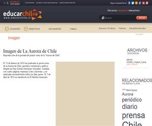 Imagen de La Aurora de Chile (Educarchile)